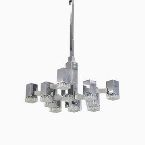 12-Light Hanging Lamp by Gaetano Sciolari for Sciolari, 1960s