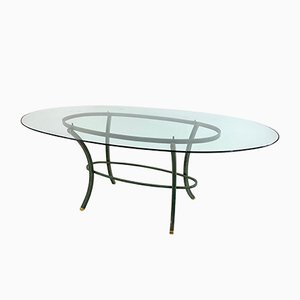 Glass Dining Table by Pierre Vandel, 1970s
