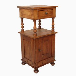 Petite Table de Chevet Antique en Mérisier, 1890s