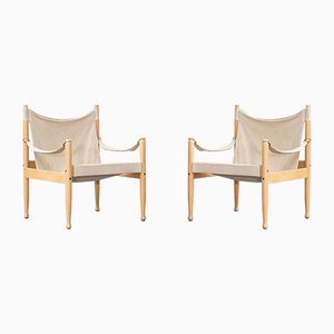 Lounge Chairs by Erik Wørts for Niels Eilersen, 1960s, Set of 2