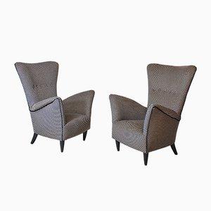 Armlehnstühle von Gio Ponti für l'Hotel Bristol Merano, 1950er, 2er Set