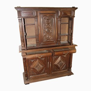 Large Carved Oak Double Buffet, 1900s