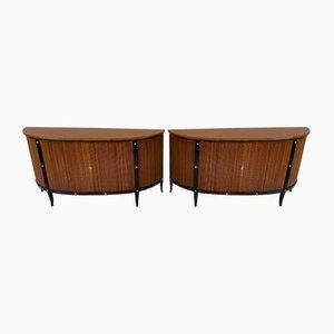 Italienische Art Deco Kirschholz Sideboards, 1950er, 2er Set