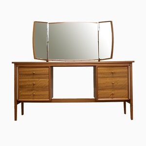 Mid-Century Teak and Walnut Dressing Table or Desk by Peter Hayward for Vanson, 1960s