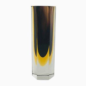 Submerged Murano Glass Vase by Flavio Poli for Alessandro Mandruzzato, 1960s