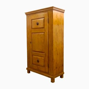 Antique Biedermeier Kitchen Cabinet or Linen Cabinet, 1830s