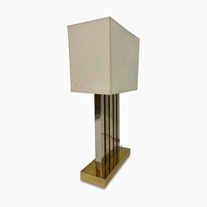 Grande Lampe de Bureau en Laiton et Chrome, 1970s
