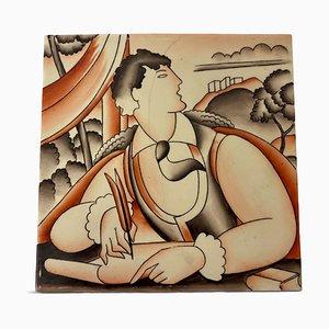 Keramikfliese von Gio Ponti für Richard Ginori, 1930er