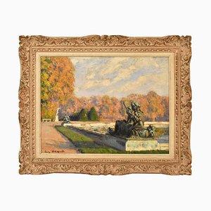 Parque de Versalles, pintura de paisaje antigua, siglo XX