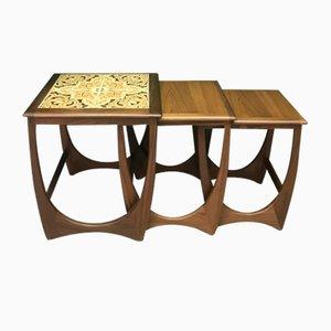 Tavolini da caffè Mid-Century ad incastro di G-Plan, set di 3