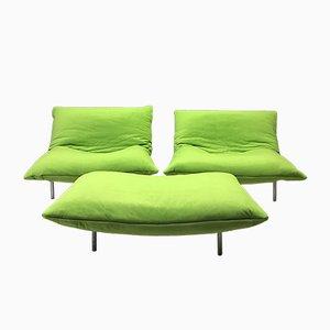 Modulare Sessel & Fußhocker von Ligne Roset, 3er Set