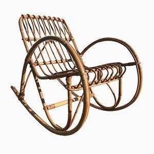 Mid-Century Modern Child's Bamboo Rocking Chair