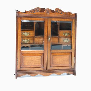 Aesthetic Movement Walnut Wall Cabinet, Late 19th Century