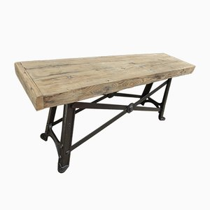 Industrial Cast Iron Console, 1920s