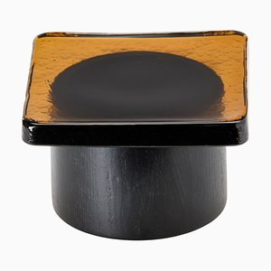 Pieduccio Bowl with Lid in Amber by SCMP Design Office for Favius