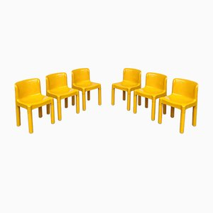 Model 4875 Chairs by Carlo Bartoli for Kartell, 1970s, Set of 6