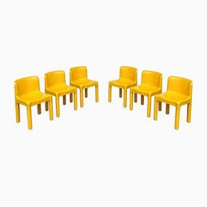 Modell 4875 Stühle von Carlo Bartoli für Kartell, 1970er, 6er Set