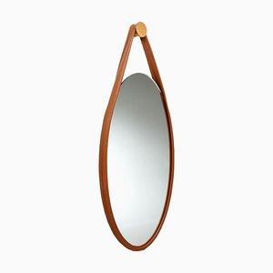 Cognacfarbener Spiegel von Mikkel Vandborg für Favius