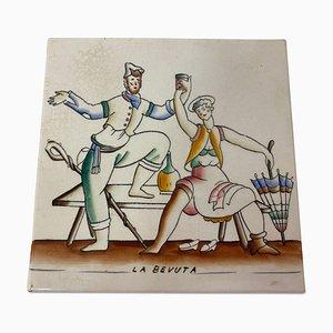Keramikfliese von Gio Ponti für Richard Ginori