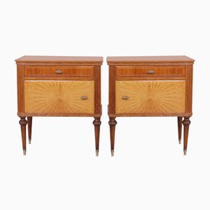 Tables in Walnut, Italy, 1950s, Set of 2