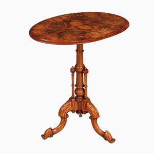 Inlaid & Figured Walnut Wine or Side Table