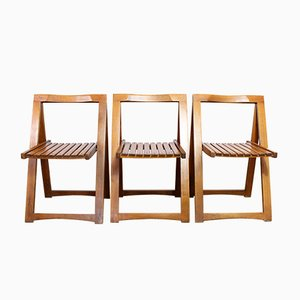Folding Chairs by Aldo Jacober, Set of 3