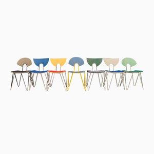 Bunte Mikado Esszimmerstühle von Walter Leeman für Kusch + Co., 1990er, 7er Set