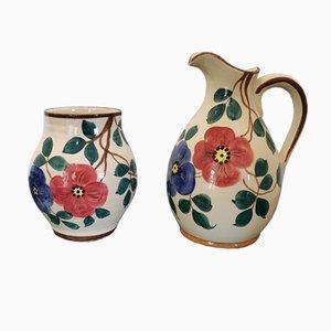 Krug und Vase von St. Clement, 2er Set