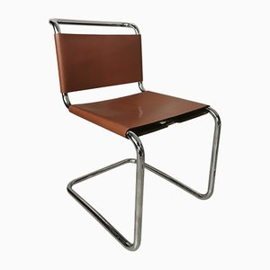 Leather Model Spoleto Vintage Leather Chairs from Knoll Inc. / Knoll International, 1971, Set of 8