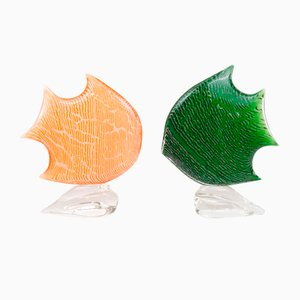 Kunstobjekte aus Muranoglas, 2er Set