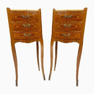French Nightstands, Set of 2