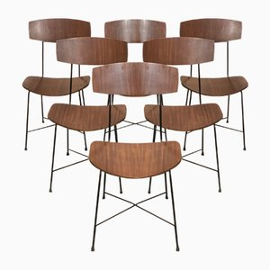 Italian Dining Chairs in the Style of Augusto Bozzi, 1960s, Set of 6