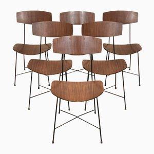 Italienische Esszimmerstühle im Stil von Augusto Bozzi, 1960er, 6er Set