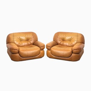 Space Age Lounge Chairs, Italy, 1970s, Set of 2