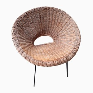Rattan Armchair by by Janine Abraham & Dirk Jan Rol, 1950s