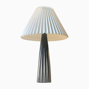 Striped Ceramic Table Lamp by Svend Aage Holm Sorensen for Søholm, 1960s