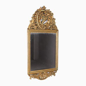 Gilt Wall Mirror in Baroque Style