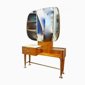 Mid-Century Modern Walnut Dressing Table by A.A. Patijn for Zijlstra Joure, 1950s