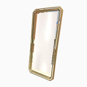 Vintage Hollywood Regency Style Gold Faceted Mirror from Deknudt, 1970s