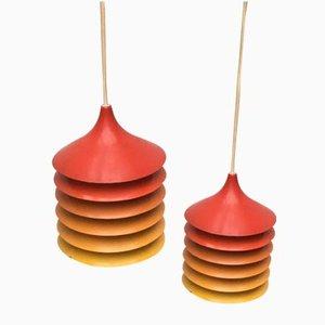 Vintage Duett Hängelampen von Bent Gantzel Boysen für Ikea, 2er Set