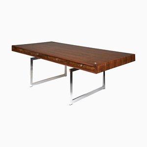 Danish Rosewood Executive Desk by Bodil Kjaer for E. Pedersen & Son, 1960s