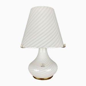 Large Swirl Murano Glass Mushroom Table Lamp from Vetri Murano, Italy, 1970s