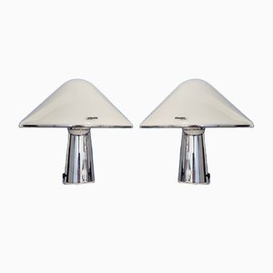 Lampes de Bureau Mushroom Mid-Century de IGuzzini, Italie, 1970s, Set de 2