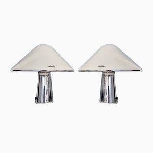 Mid-Century Mushroom Tischlampen von IGuzzini, Italien, 1970er, 2er Set