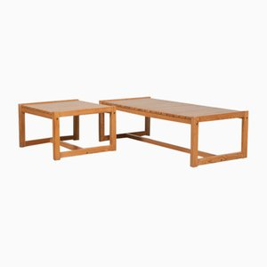 Vintage Coffee Table and Side Table by Karin Möbring for Ikea, 1970s, Set of 2