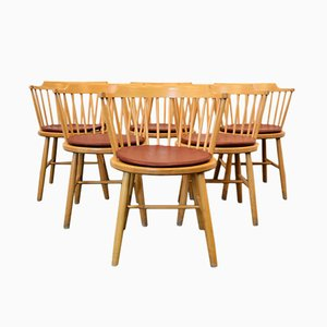 Vintage Model 3249 Beech Dining Chairs by Børge Mogensen for Fredericia, Set of 6