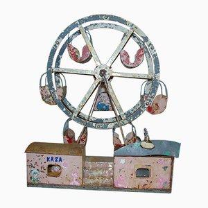 Art Deco Industrial Metal Carousel Toy, 1940s