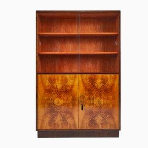 Art Deco Walnuss Furnier H Serie Bücherregal von Jindrich Halabala für UP Závody, 1930er