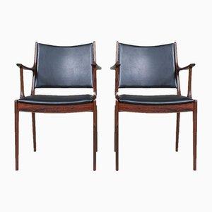Palisander Esszimmerstühle von Johannes Andersen für Uldum Møbelfabrik, 1960er, 2er Set