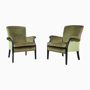 Velvet Lounge Chairs from Parker Knoll, 1960s, Set of 2